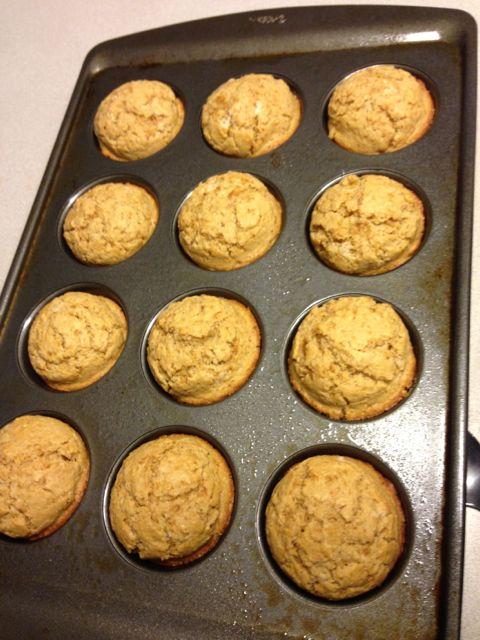 Whole Grain Corn Muffins-Golden
