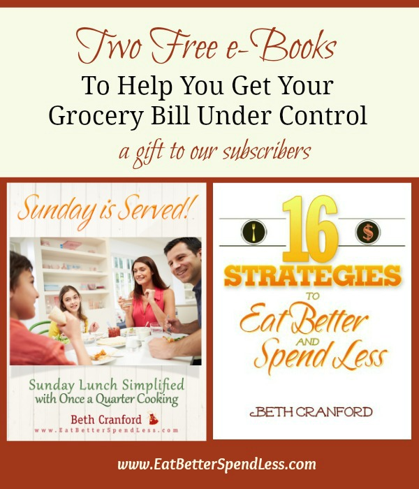 Two free e-books to help you reduce your grocery budget