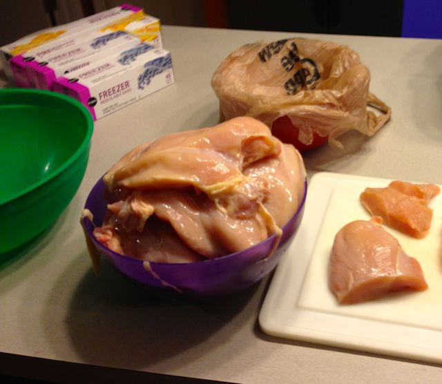Freezing boneless chicken-1