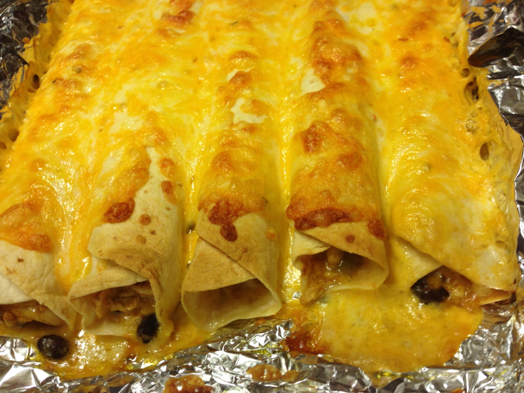Cheesy Chicken Enchiladas; Healthy, easy, affordable, and great for freezer cooking!