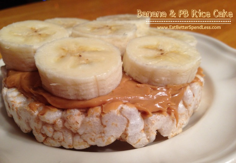 Banana & PB Rice Cake-Just incase you need some snack ideas
