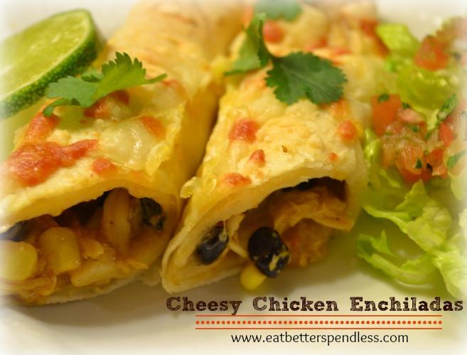 Cheesy Chicken Enchiladas with homemade Pico de Gallo