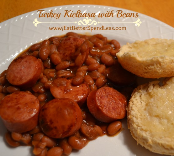 Turkey Keilbasa with beans