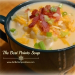 The Best Potato Soup; delicious, comforting, and only one pot!