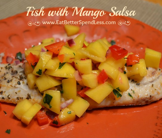 This Fish with Mango Salsa is a delicious and healthy meal that only takes about 10-15 minutes to make. It's my favorite fish recipe.
