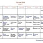 Dinner Plan-February