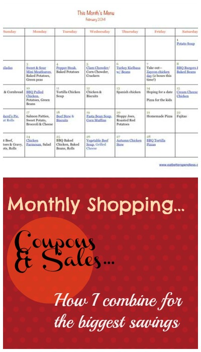 Monthly Shopping and using Coupons