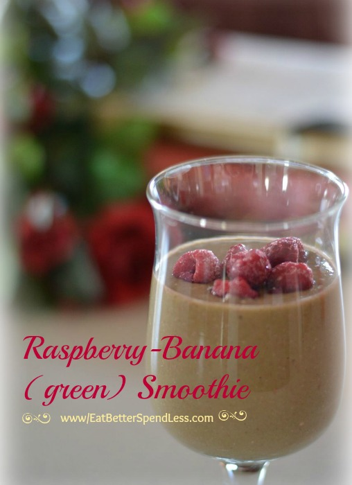Raspberry Banana (green) Smoothie