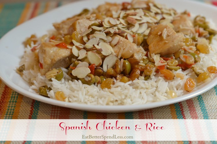 Spanish Chicken & Rice; Delicious and easy to make. Great week-night dinner.