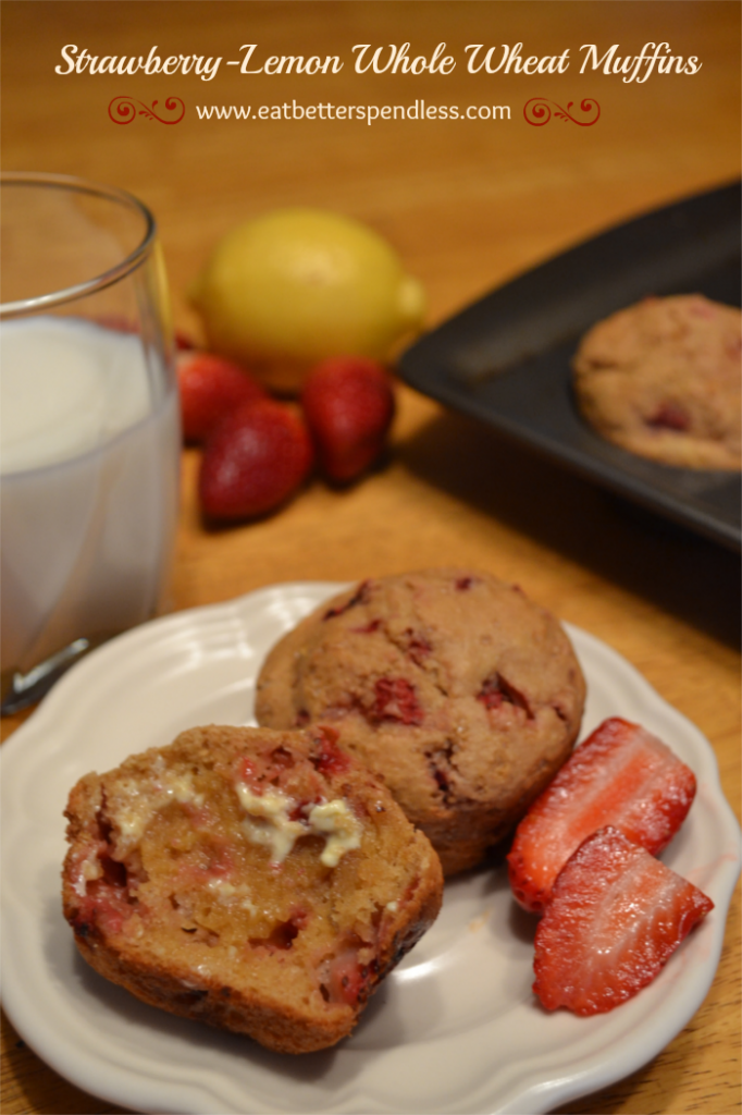 Strawberry LemonWhole Wheat Muffins