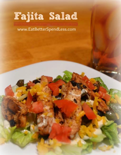 Fajita Salad-Quick, easy, and healthy!