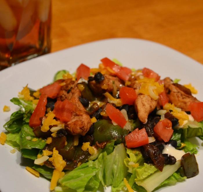 Chicken Fajita Salad-quick, easy, and healthy!