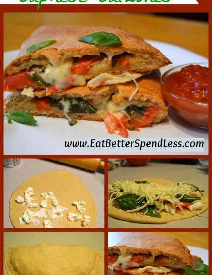 Freezer Friendly Caprese Calzone
