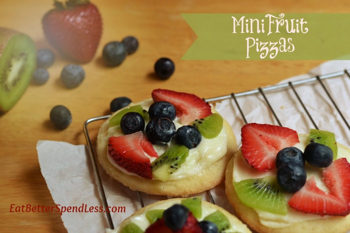 Mini Fruit Pizza--delicious summer-time treat www.eatbetterspendless.com