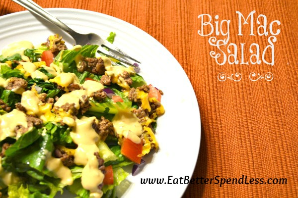 Big Mac Salad--easy, fun, and affordable!