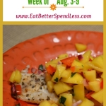 This Week's Menu Aug 3-9
