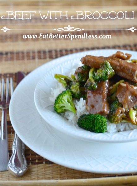 Got a craving for take-out Beef and Broccoli?  Skip the take-out and try this easy, frugal recipe.