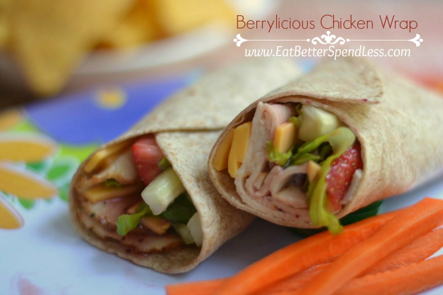 Berrylicious Chicken Wrap-a fresh yummy alternative to a plain old sandwich