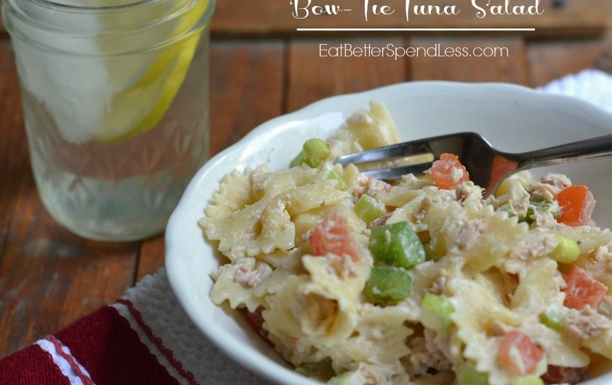 Bow-Tie Tuna Salad; a fun alternative to tuna sandwiches.