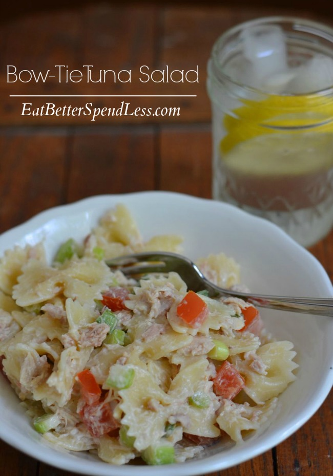 Bow-Tie Tuna Salad; A fun alternative to a tuna sandwich!