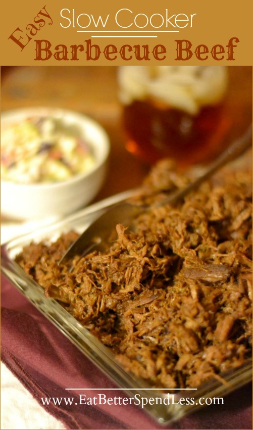 Easy Slow Cooker Barbecue Beef: EatBetterSpendLess.com