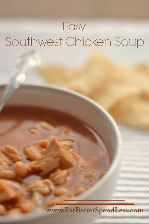 Easy Southwest Chicken Soup-Vertical