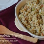 Simple Cornbread Dressing--Easy, delicious, and best of all, you can make it a day ahead and simplify your holiday baking.