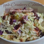 Creamy, Sweet, Tangy coleslaw. A perfect side dish for barbecue. www.eatbetterspendless.com