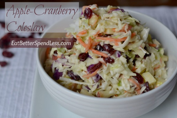 This coleslaw is cream and crunchy, sweet and tart. Super easy to make and beautiful to look at. Perfect side to serve with barbecue!