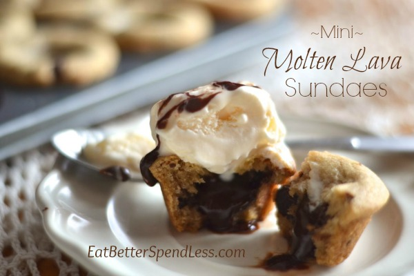 Looking for a dessert that combines the best of your favorites? These Molten Lava Sundaes give you a chewy-crispy cookie, oozing hot fudge, and ice cream.