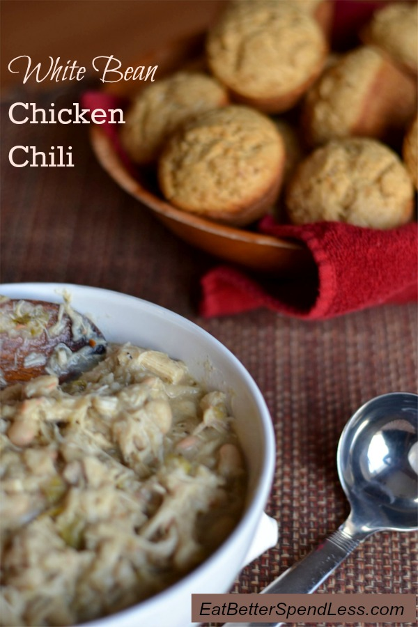 White Bean Chicken Chili: A quick meal to warm you on a cold winter day.
