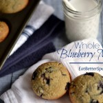 Here is a delicious whole wheat blueberry muffin recipe that was passed down from my grandmother. I tweaked it just a little to make it healthier but they are still fluffy and sweat, like a muffin should be.