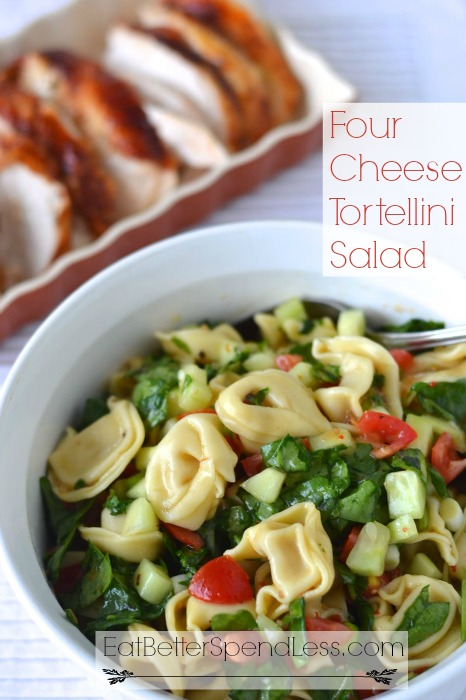"Summer is in full swing here, and we're ready for some ""cool"" food! This Tortellini Salad is delicious, healthy, and perfect for hot summer days."