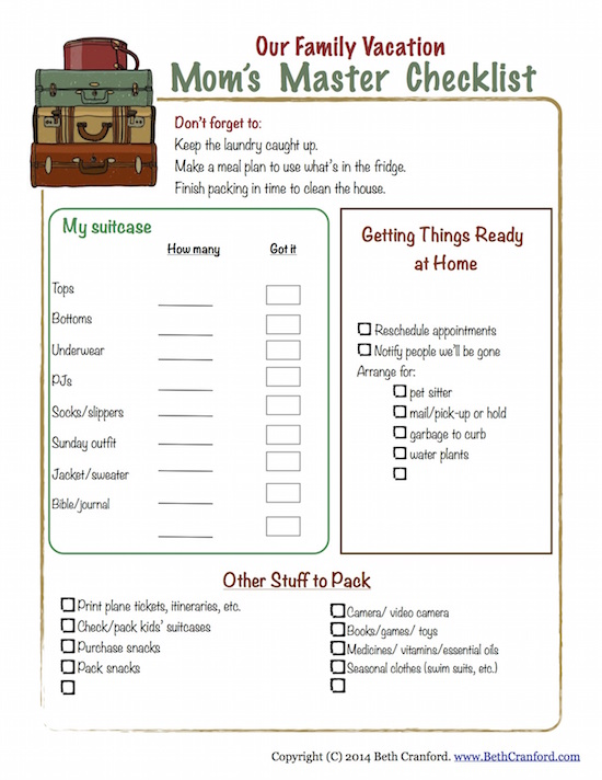Here are some great tips and free printables to make packing for your family vacations easy and fun.