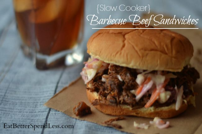 Dig out that slow cooker and make a delicious and healthy lunch or dinner. We love these Barbecue Beef sandwiches. They taste like the took forever!