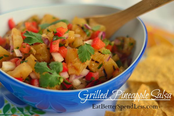 You could be the rock start at your next pot luck with this grilled pineapple salsa, and no one would have to know how easy it was to make!