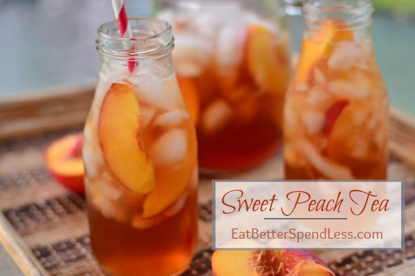 It's a perfect time to sit on the patio and sip Sweat tea, or, even better, Sweat Peach Tea. This simple recipe is frugal and better than the restaurants.